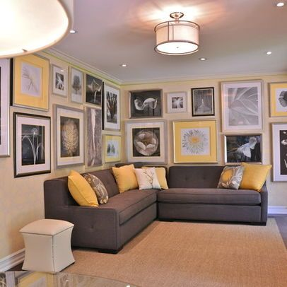 Grey yellow design ideas pictures remodel and decor for Living room yellow walls