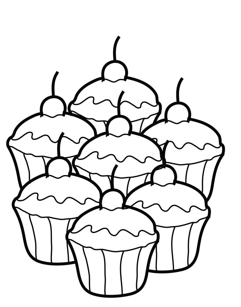 Free Printable Cupcake Coloring Pages For Kids Coloring Book Pages