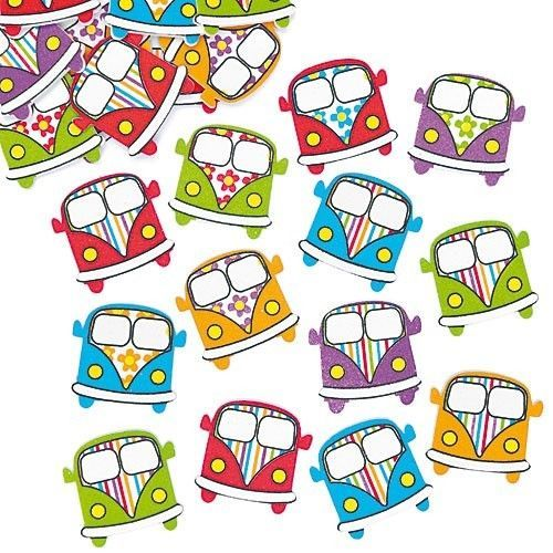 20 FOAM CAMPER VAN VEHICLE STICKER CARD MAKING SCRAPBOOKING CRAFT EMBELLISHMENTS