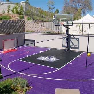 Home Basketball Court By Sport Court Home Basketball Court Basketball Court Layout Basketball Court