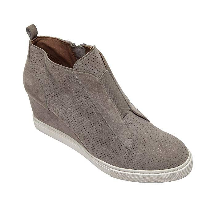 06b1ccb20e Linea Paolo Felicia | Platform Wedge Bootie Sneaker Rock Perforated Suede 9M