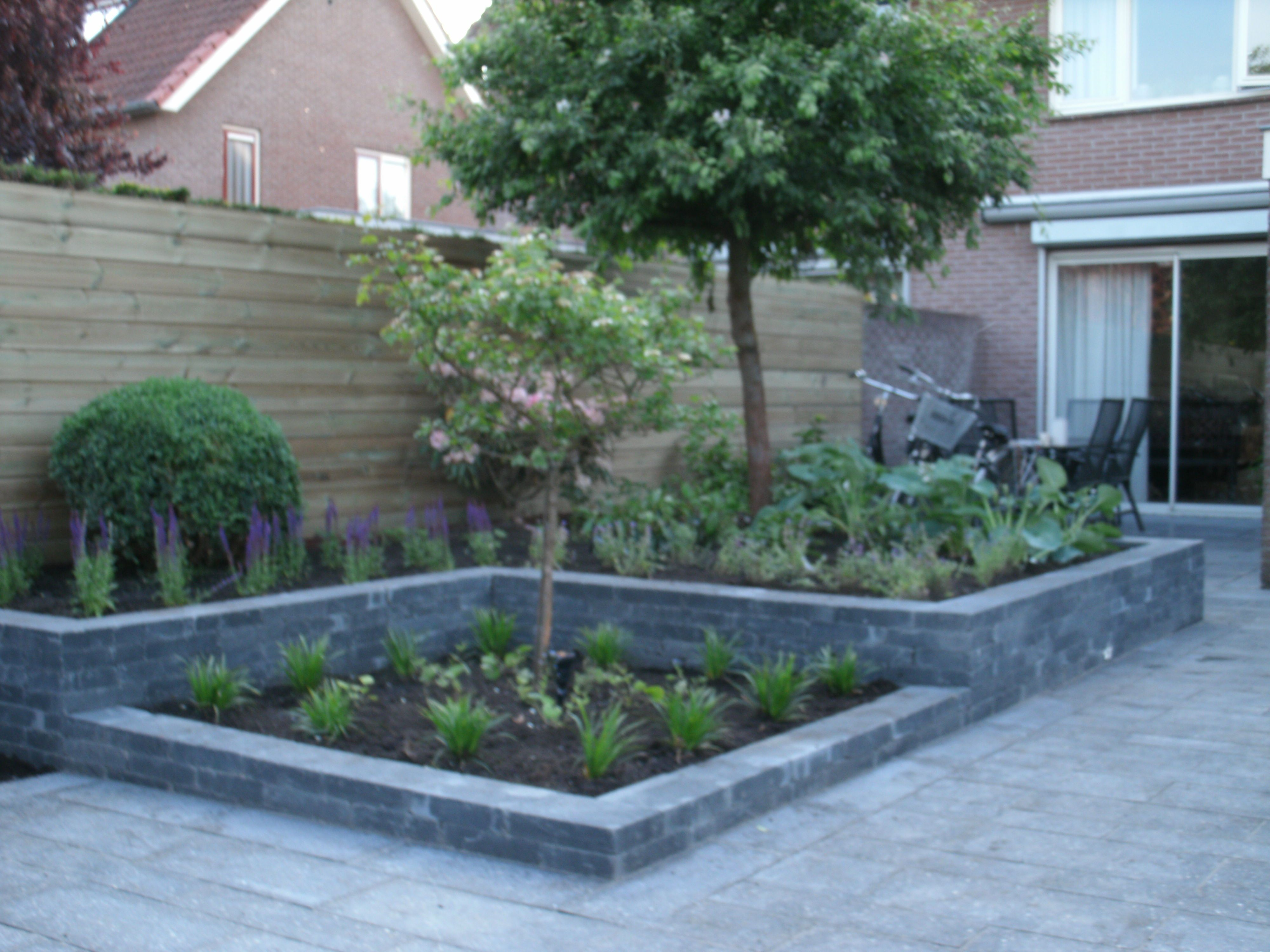 Afbeeldingsresultaat voor tuin met verhoogde borders for Kleine straucher vorgarten