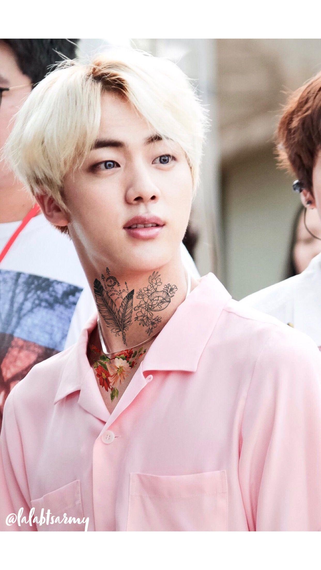 Jin Seokjin Tattoos Bts Tattoos Bts Fanfiction Punk Edits