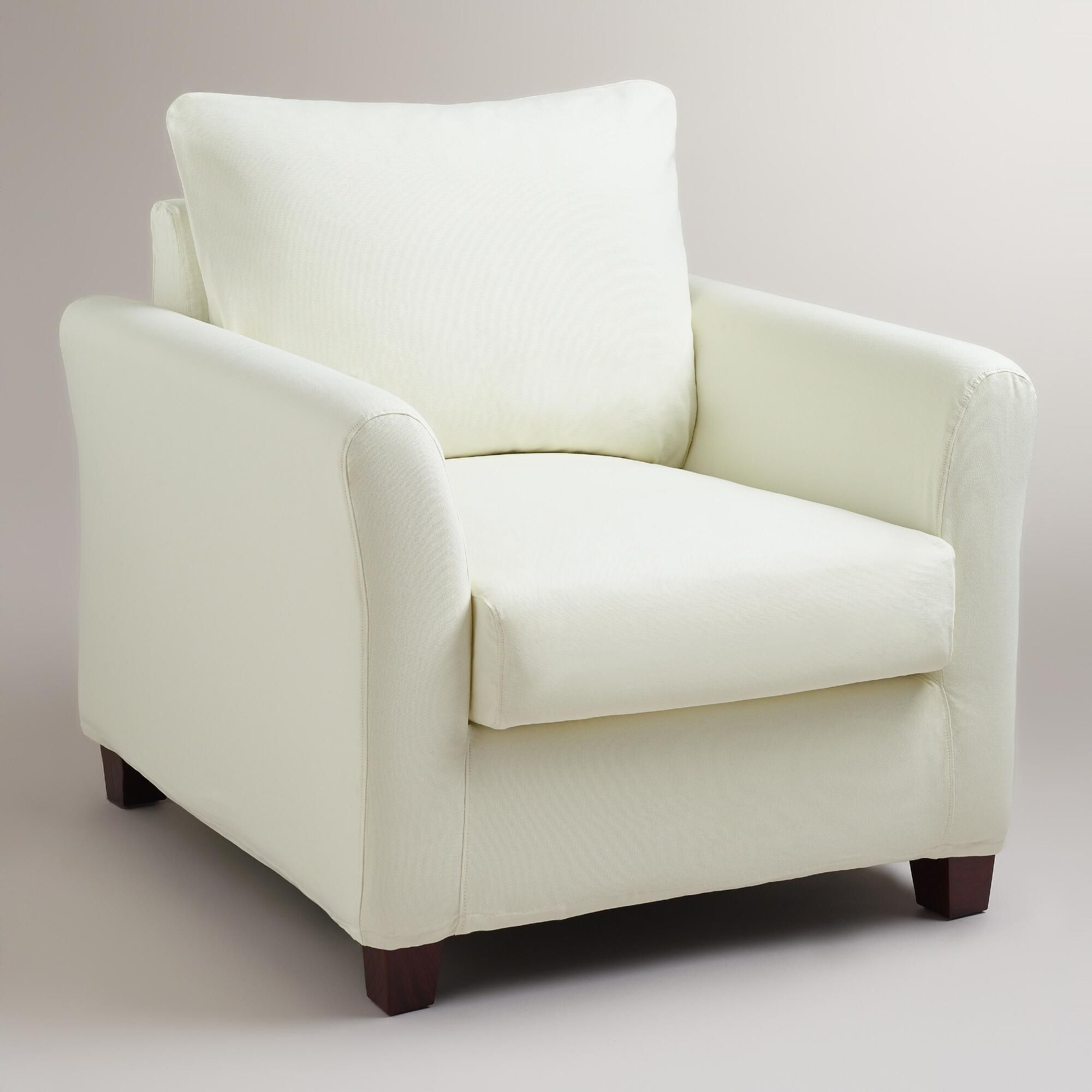 Ivory Luxe Chair Slipcover World Market fice