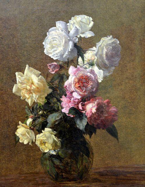 henri fantin latour roses 1883 at kunsthaus z rich zurich switzerland henri fantin latour. Black Bedroom Furniture Sets. Home Design Ideas
