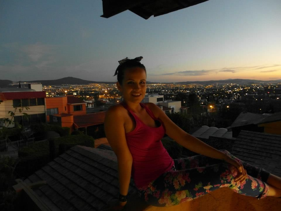 terraza, famila, sol