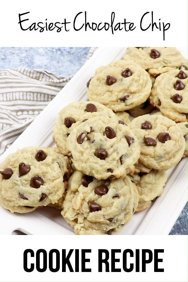 Easiest Chocolate Chip Cookie Recipe - I Heart Eat