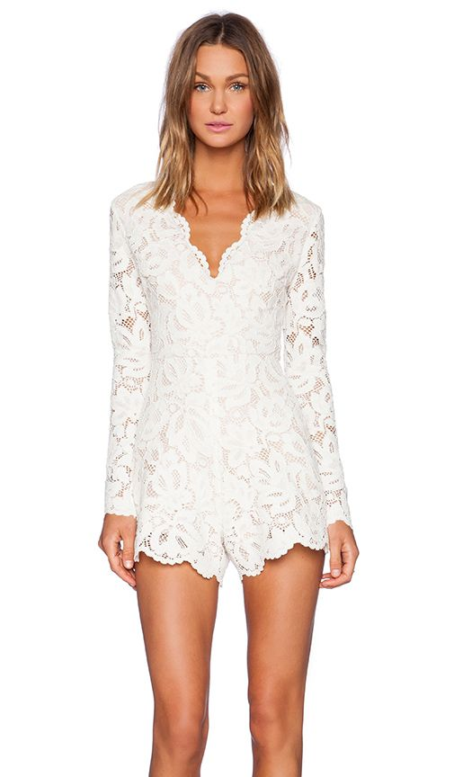 66780bf797e6 Perfect bridal romper for dancing and send off! Reception romper instead of  a reception dress! LOVE