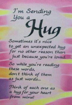 ♥ Sending a Hug to all My Friends ♥