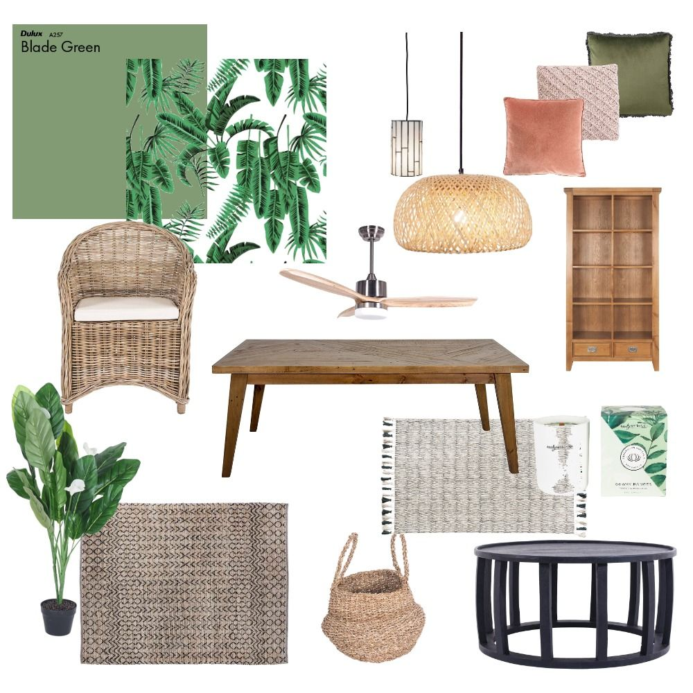 Tropical & Lush Mood Board in 2020 Tropical bedroom