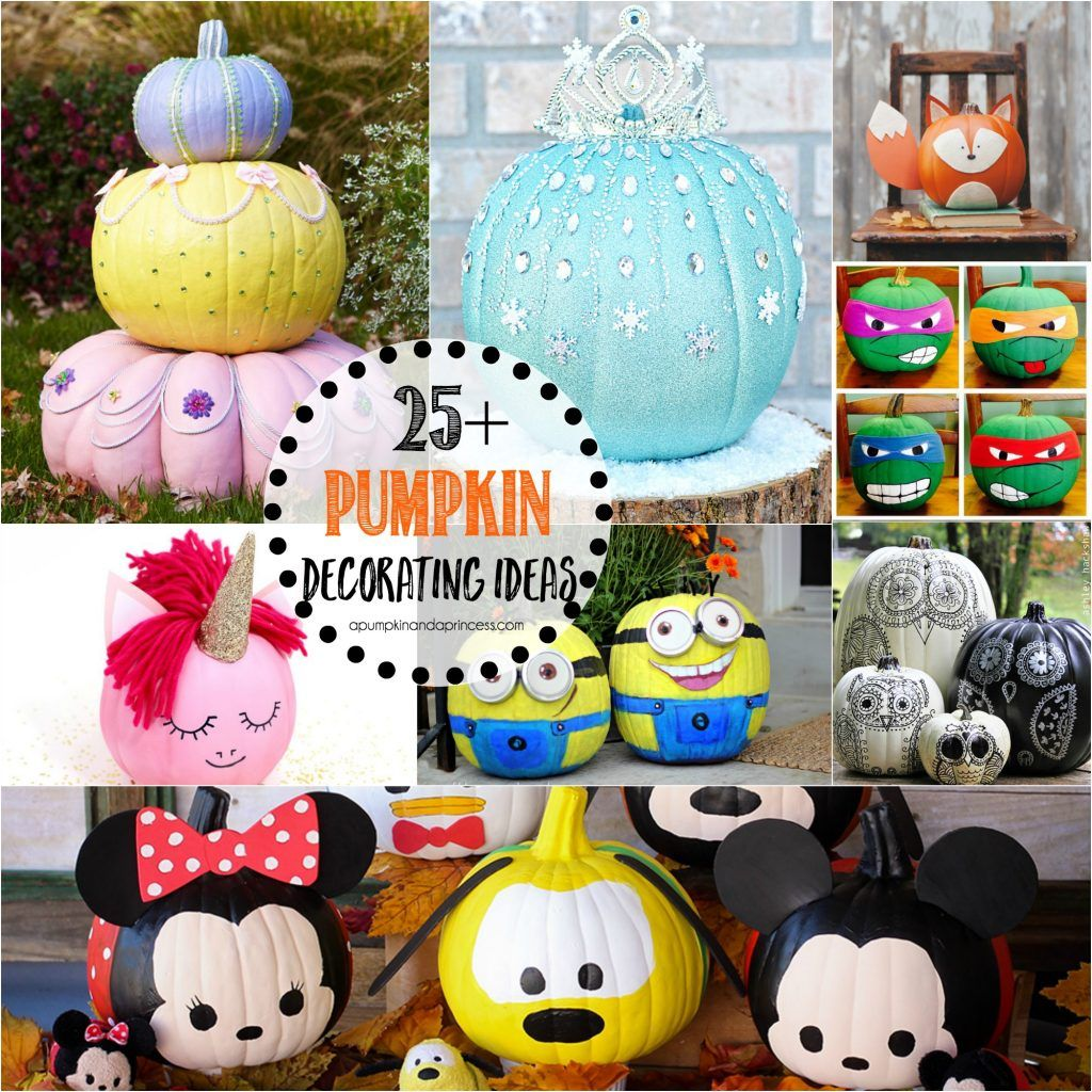 25 Creative Pumpkin Decorating Ideas Everything From Disney Princess Pumpkins Y And