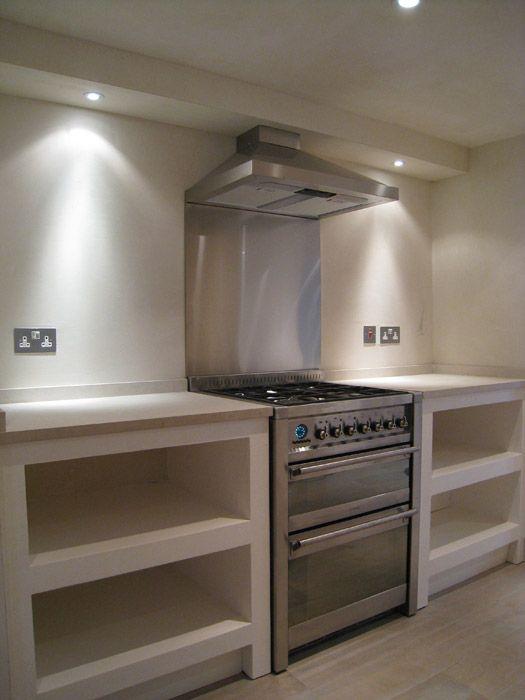 Custom Tadelakt Kitchen Units