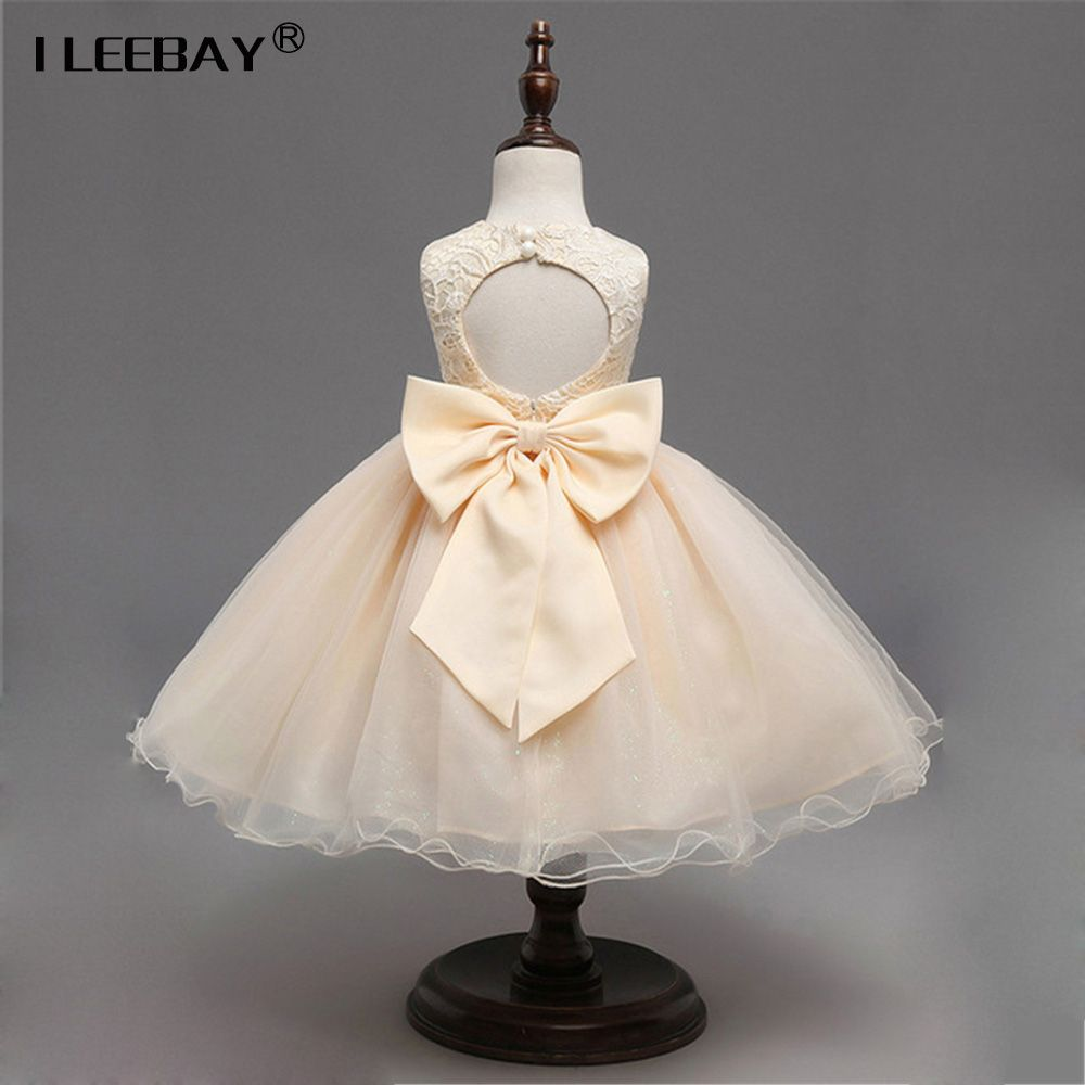 Fashion baby cute clothes girls evening dress children wedding