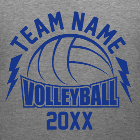 Volleyball Team Custom TShirt Template Personalize With Your