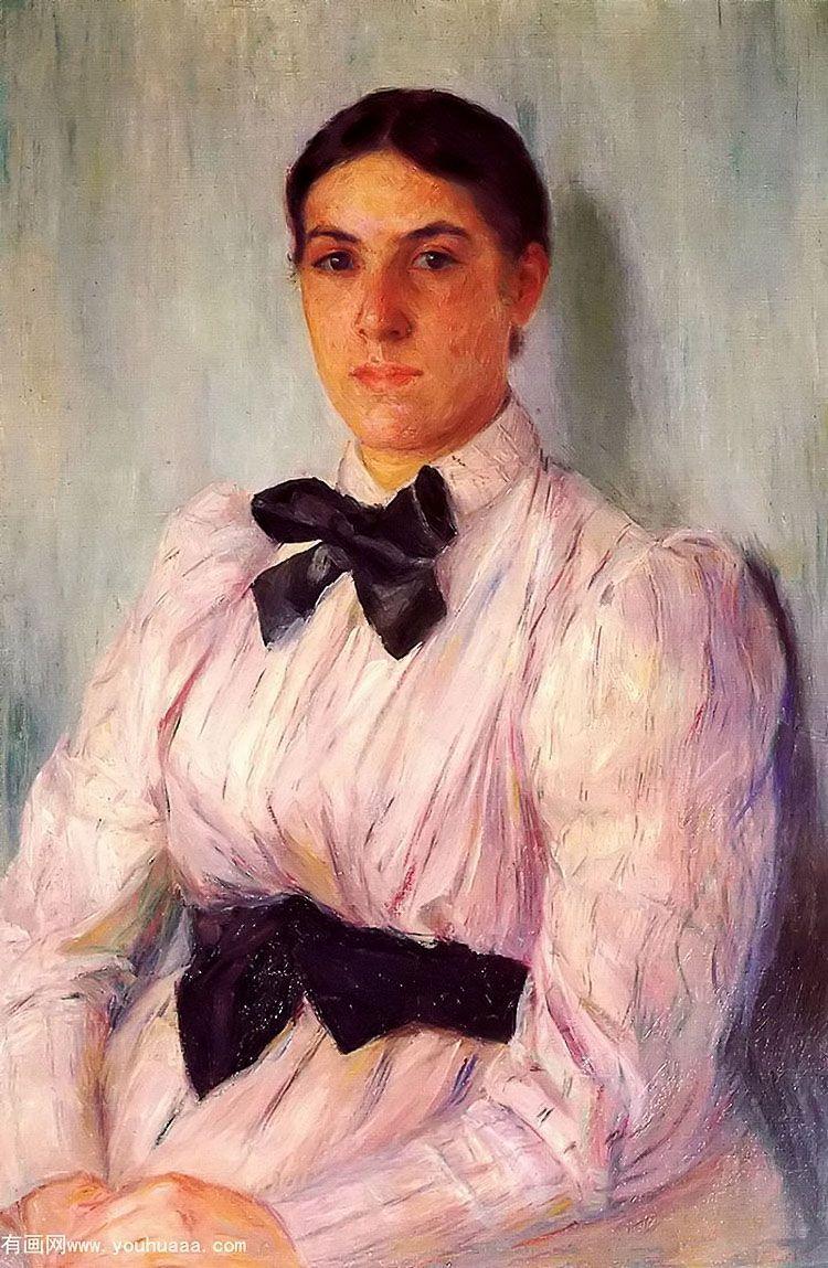 塞维尔的女士画像_玛丽·史帝文森·卡萨特_有画网