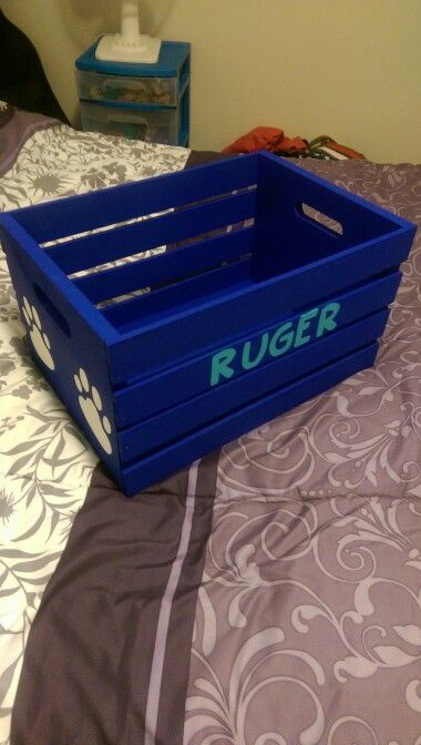 A Crate For My Dogs Toys A Wooden Crate From Target Paint And A