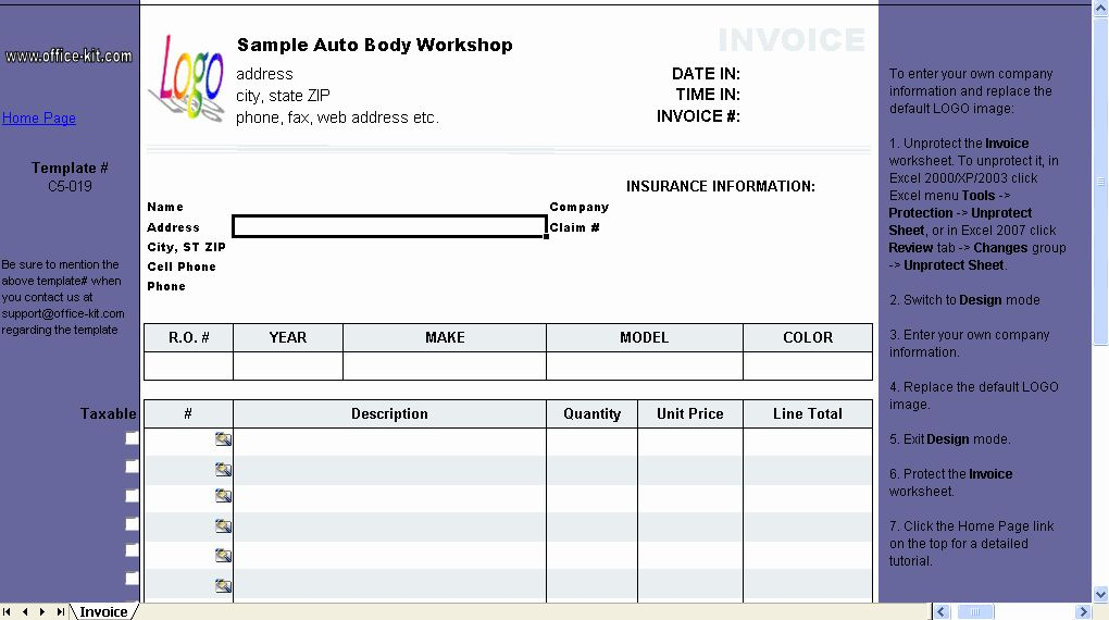 Auto Repair Invoice Template Free Lovely Auto Repair Invoice Template C5 019 Excel Invoice Manager Invoice Template Invoice Template Word Invoice Layout