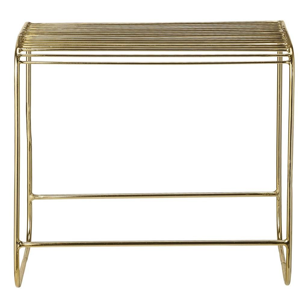 Bloomingville Metal stool gold - LIVING AND COMPANY
