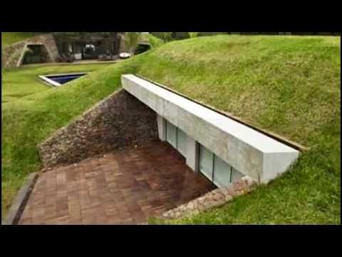 Shipping container homes underground - Earth-cooled, shipping container underground ca home for 30k