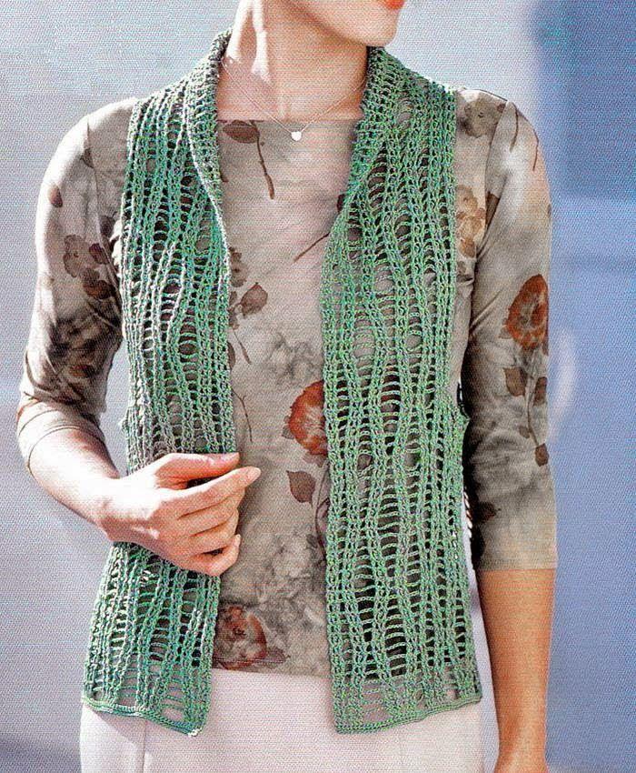 Crochet Sweaters: Crochet Vest Pattern Free - Lace Vest For Women Crochet ...