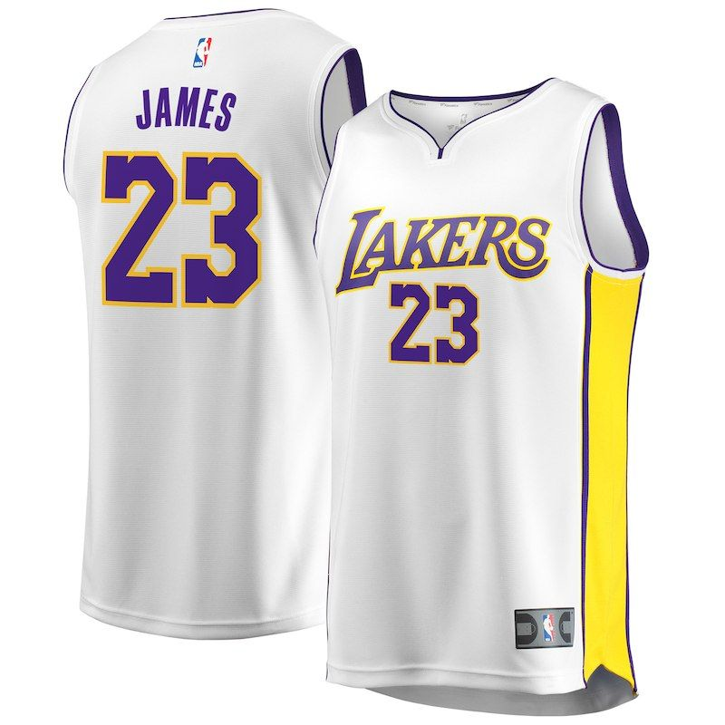 7e25f70bb0a7 LeBron James Los Angeles Lakers Fanatics Branded Youth Fast Break Replica Jersey  White – Association Edition
