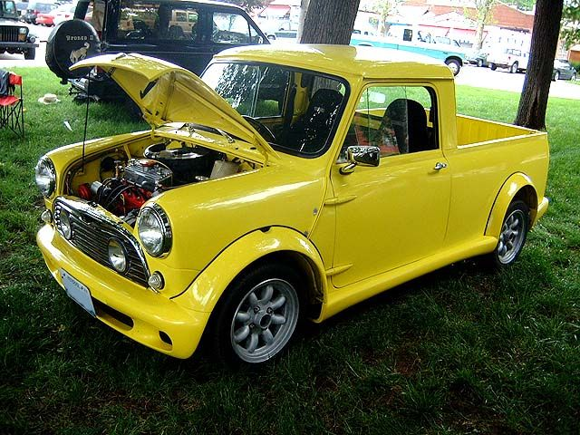 mini pickup truck these were actually made not a conversion cars pinterest minis. Black Bedroom Furniture Sets. Home Design Ideas