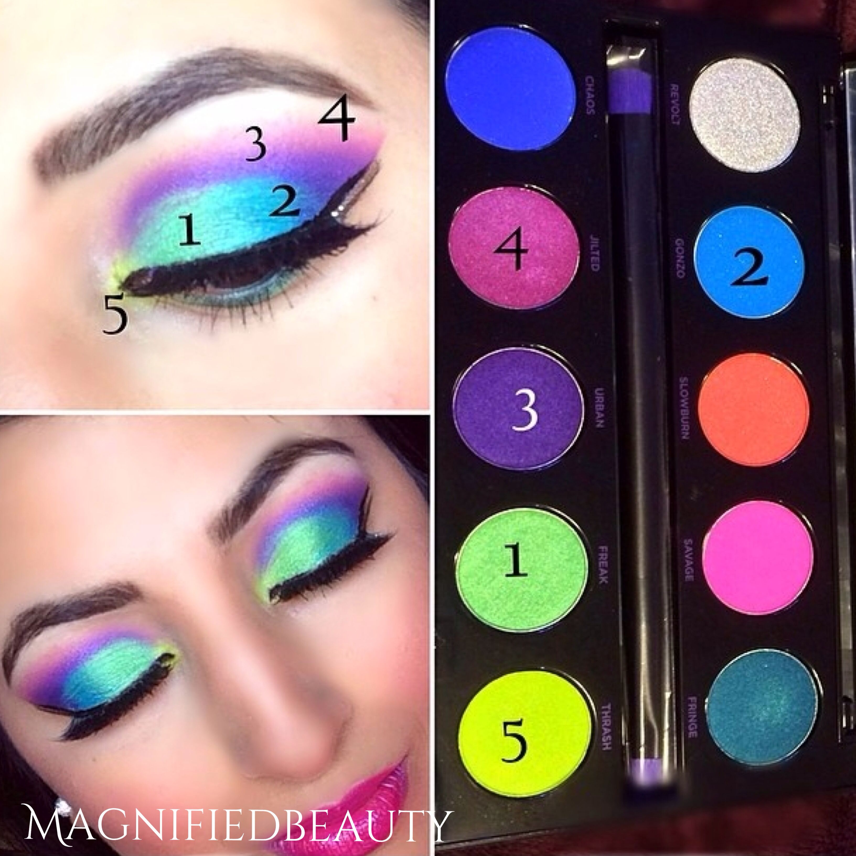 Urban Decay Electric Palette Amazing Colors By Magnifiedbeauty On