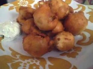 Deep Fried Onion Balls / Cajun Ranch Sauce Recipe - they had me at deep fried and nailed it with cajun ranch.
