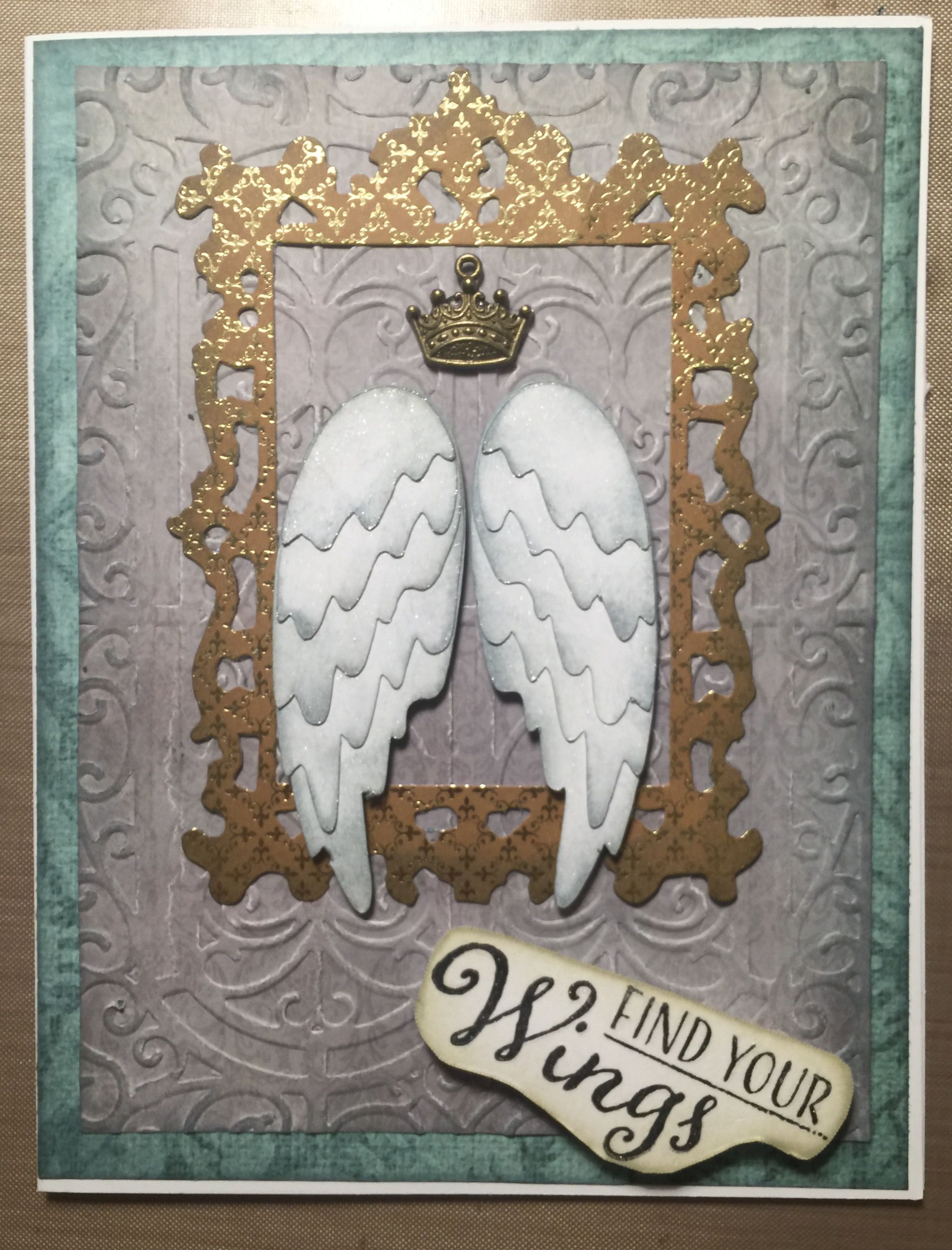 Angel wings card tim holtz bigz frame and angel wings dies angel wings card tim holtz bigz frame and angel wings dies jeuxipadfo Image collections