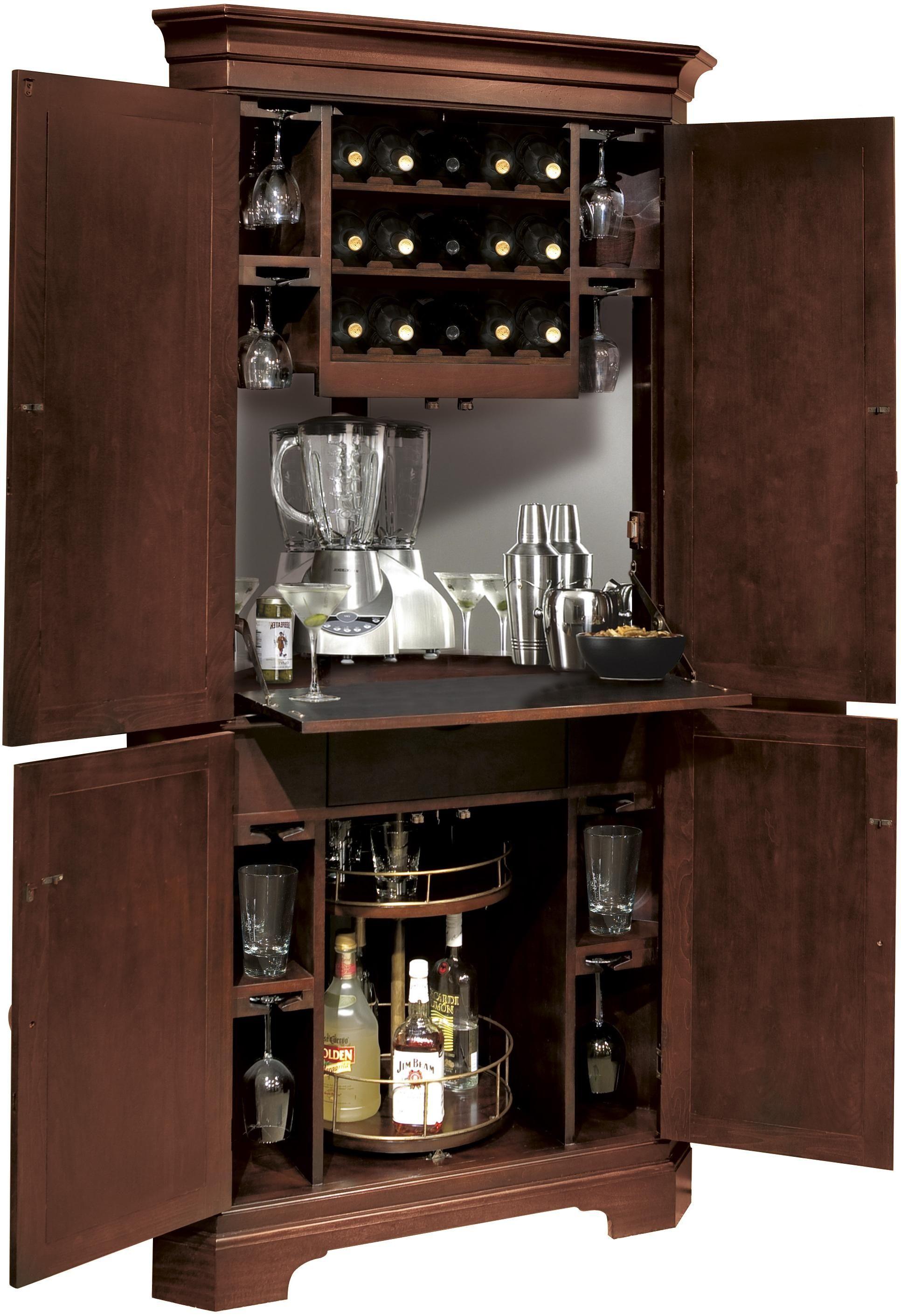 Corner Liquor Cabinet With Lock