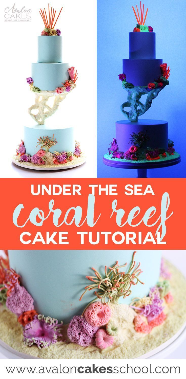 Under the Sea Coral Cake -   21 cake decor step by step