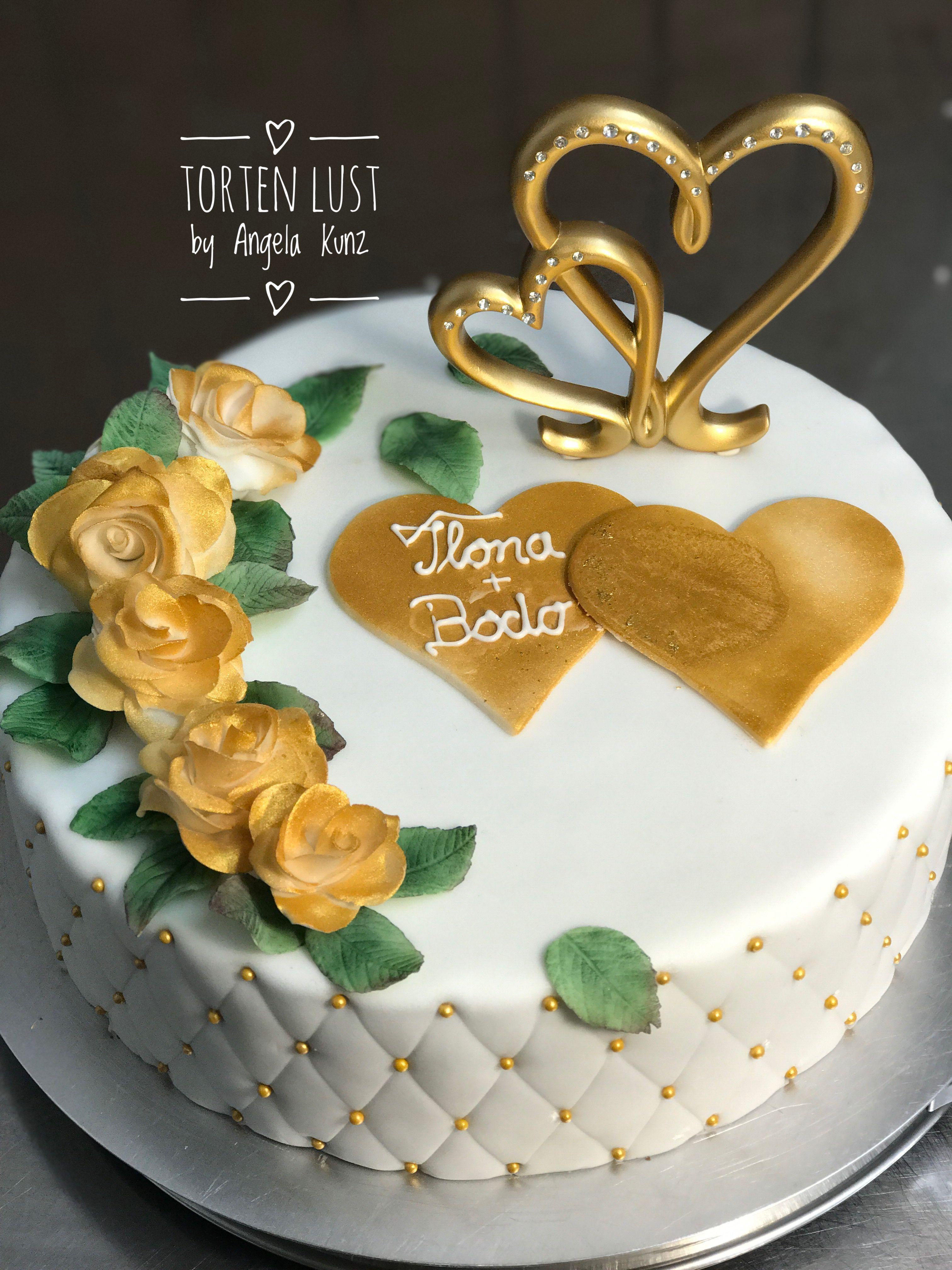 Zur Goldenen Hochzeit Torte Zur Goldenen Hochzeit Motivtorten Goldene Hochzeit Goldene Hochzeit