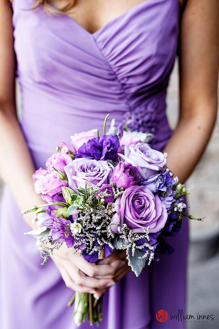 Gorgeous Purple Wedding Bouquet Robinson Ranch Wedding Www