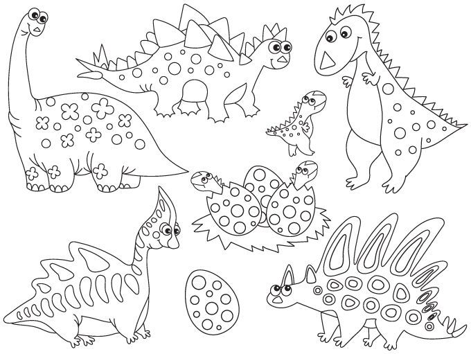 70 Off Sale Black And White Dinosaur Clipart Digital Vector Dino Trex Prehistoric Clip Art Whimsical Art Dinosaur Quilt Paper Dolls Printable