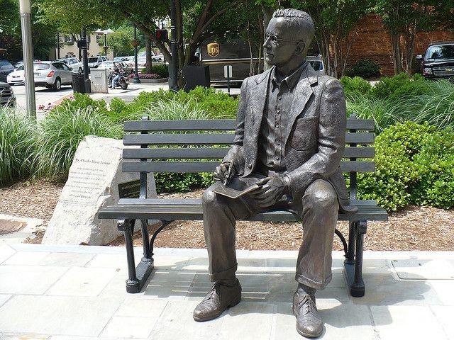 Charles H Townes Statue In Greenville Sc Outdoor Sculpture Garden Art Sculptures Statue