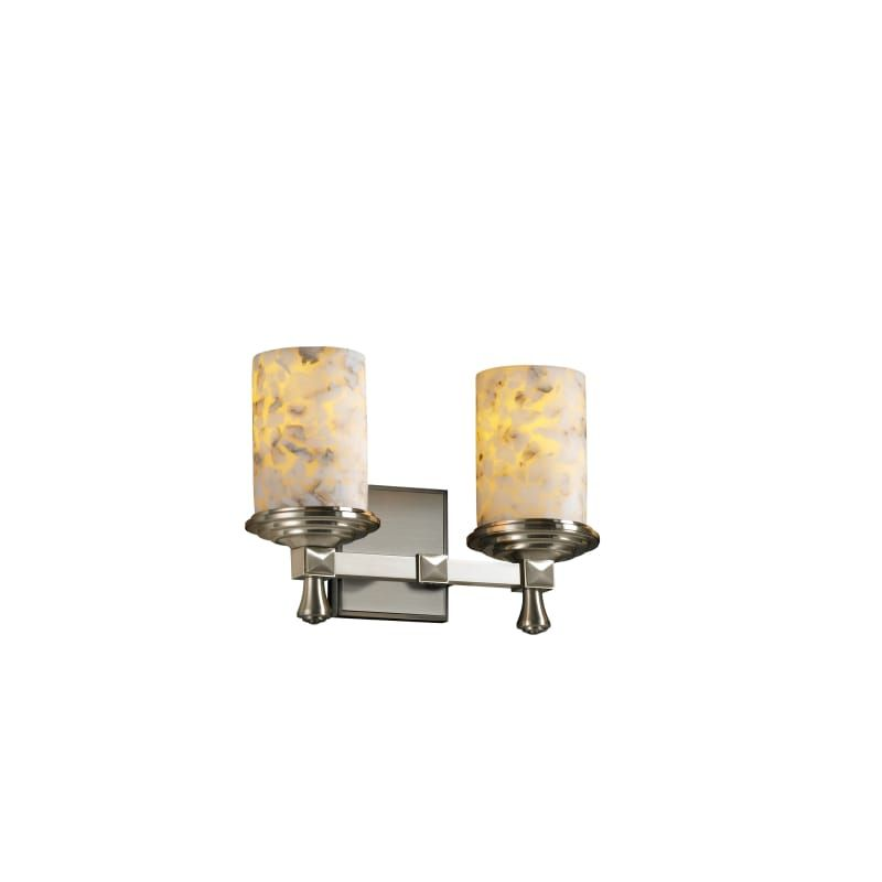 Photo of Justice Design Group ALR-8532-10 Alabaster Rocks 2 light basin lamp brushed nickel Interior lighting Bathroom lamps Basin lamp