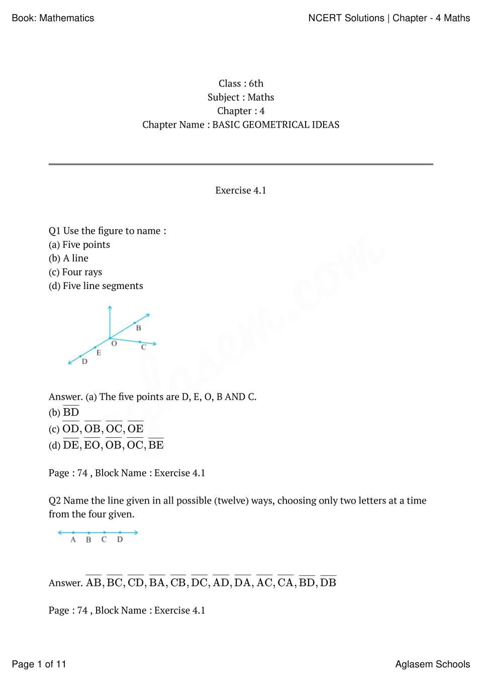 7 understanding elementary shapes class 6 worksheet with