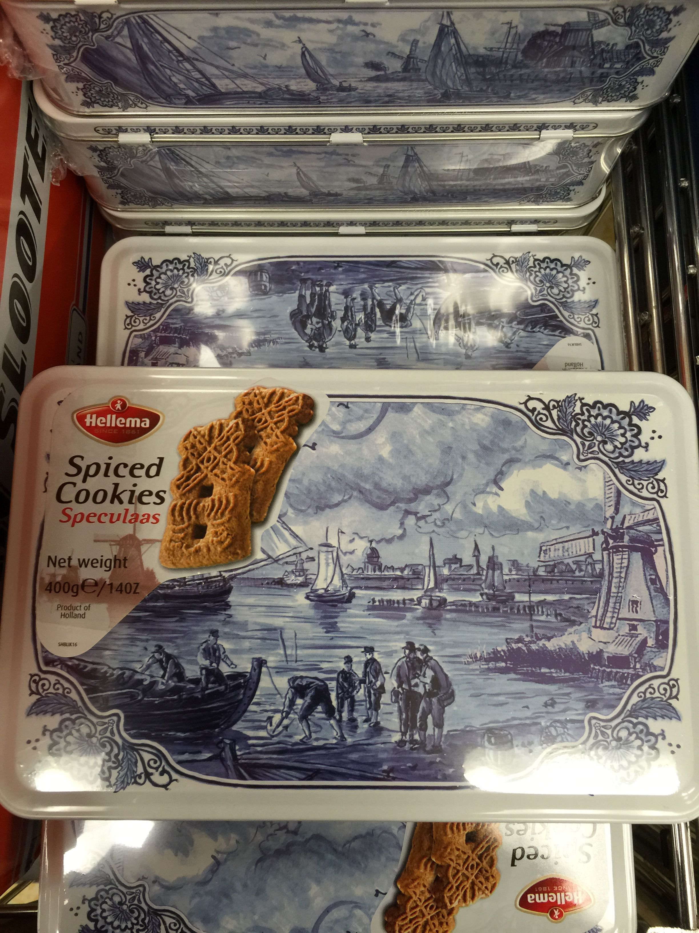 Hellema Speculaas Dutch Spiced Cookies Tin From Aldi Tin