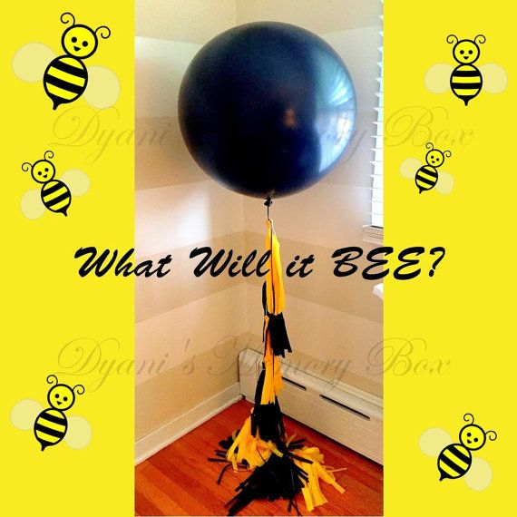 What Will It Bee Gender Reveal Balloon 36 By DyanisMemoryBox