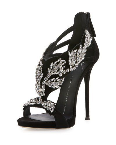 Giuseppe Zanotti Design open-toe embellished sandals - Nero
