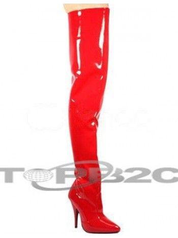 Bottes sexy en cuir verni à bout pointu aux talons hauts pour femmes en  rouge Occasion: Fête, Club, Fête , Dancing Style: Exotique, Sexy , Fétiche,  ...