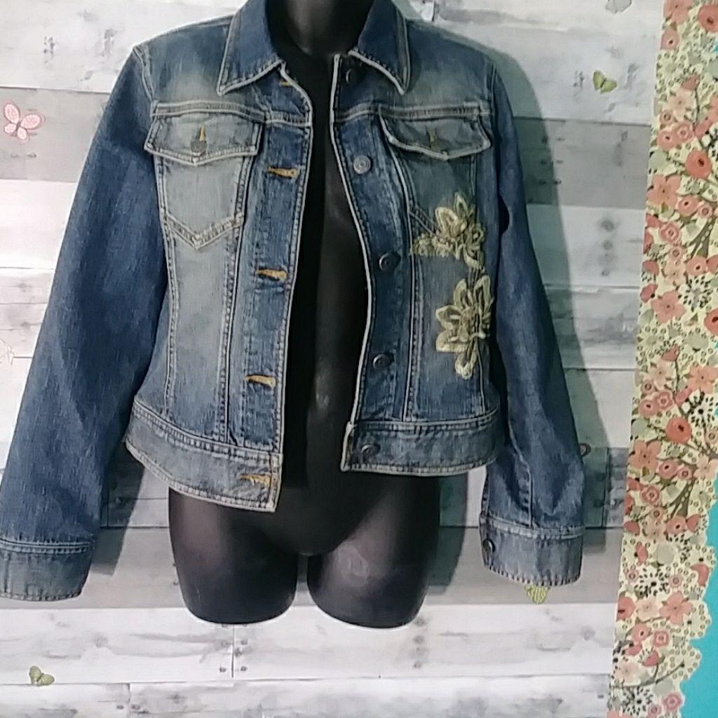 Hpthe Limited Embroidered Retro Denim Jacket