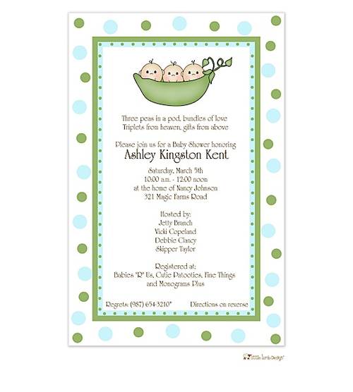 Triplet baby shower invitations from rockpaperscissors baby shower triplet baby shower invitations from rockpaperscissors filmwisefo