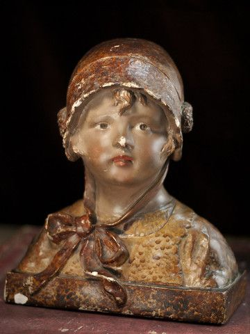 antique French plaster bust