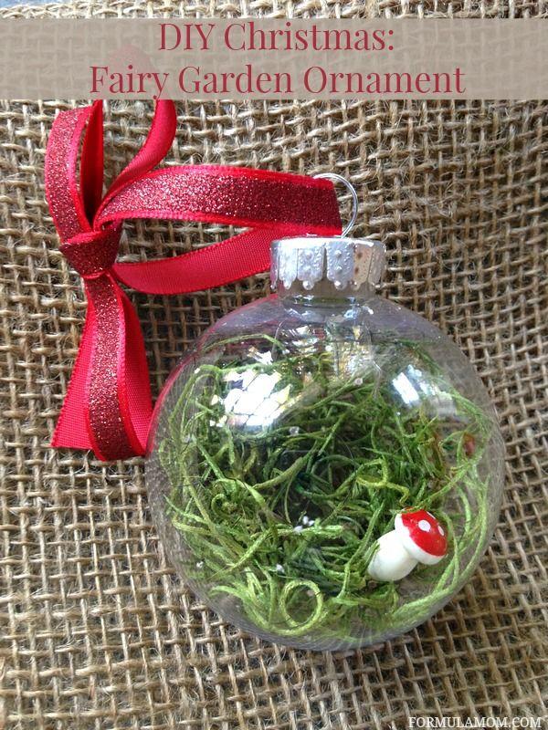12 Days of DIY Christmas Ornaments: Fairy Garden Ornament Idea #Homemade #Christmas