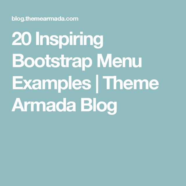 20 Inspiring Bootstrap Menu Examples | Theme Armada Blog ...