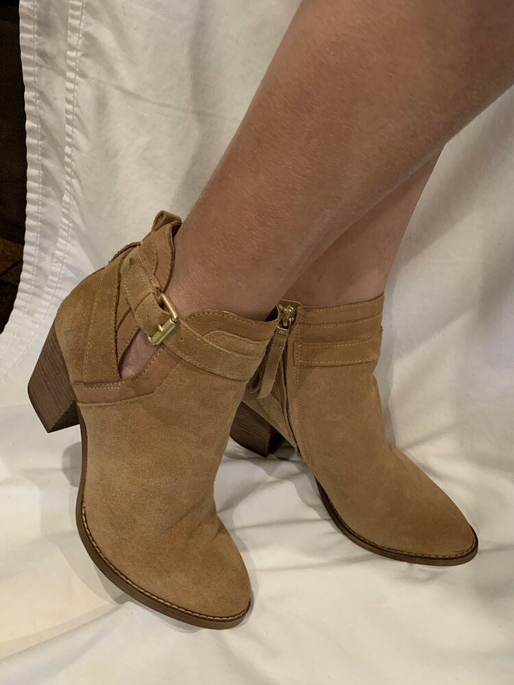 8b7d8ff8721b Sam Edelman Maurine Ankle Bootie Golden Caramel Suede Women's Size 8.5M |  eBay