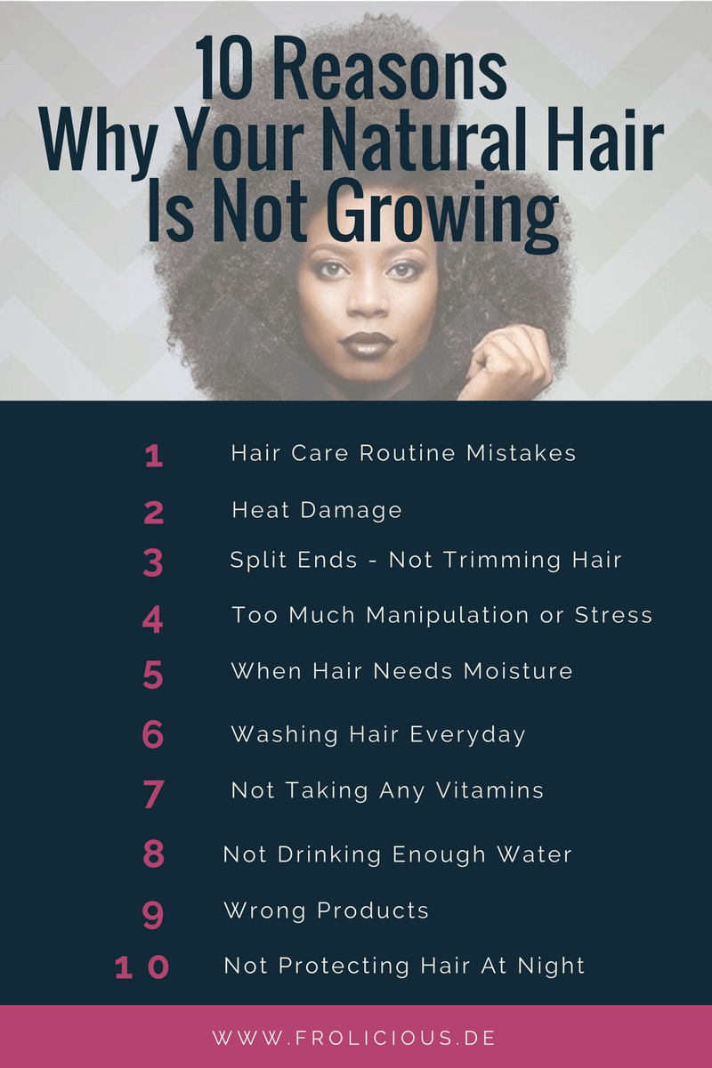 10 Reasons Why Your Natural Hair Is Not Growing Natural Hair Styles Natural Hair Tips Washing Hair