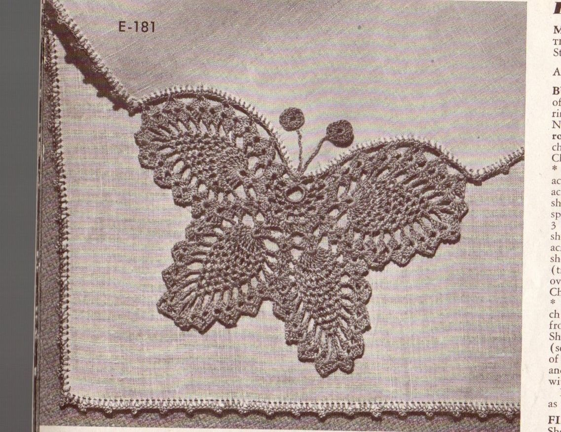 Vtg crochet hairpin lace edging patterns butterfly coats clarks vtg crochet hairpin lace edging patterns butterfly coats clarks 256 g12 picclick bankloansurffo Image collections