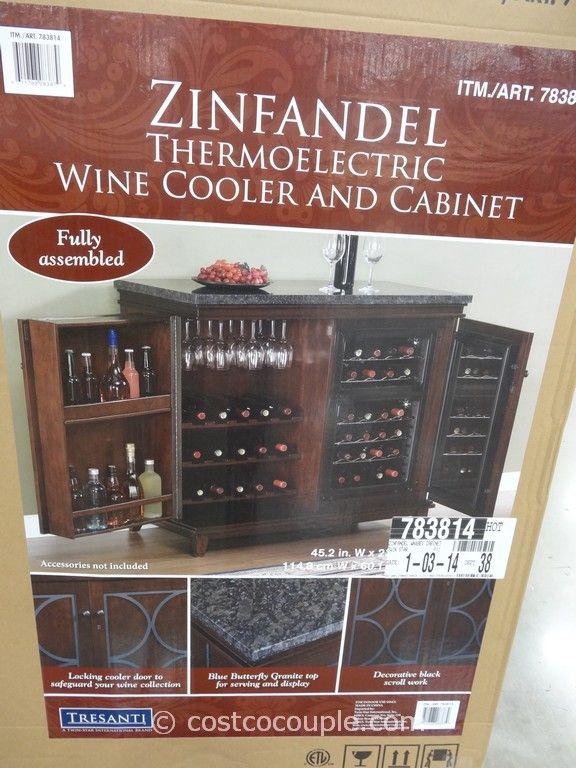 Twin Star Zinfandel Thermoelectric Wine Cooler And Cabinet Costco Granite Top 24 Bottle Dual Zone Stemware Racks Adjule Shelving